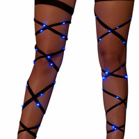 Blue Light-Up Leg Wraps