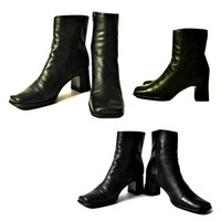 Women's Boots, ankle boots, black boots, leather boots, high heel boots, boots, shoes