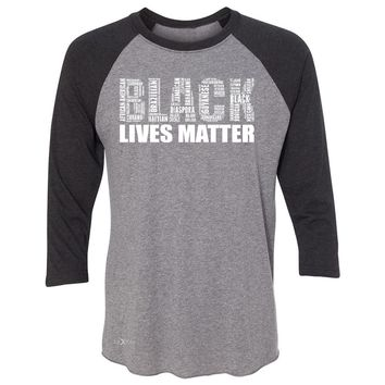 "Zexpa Apparelâ""¢ Black Lives Matter 3/4 Sleevee Raglan Tee Freedom Civil Rights Political Tee"