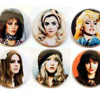 Rock divas  button badge or magnet 1.5 Inch by PKPaperKitty