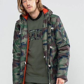 Vans Talvera Camo Jacket In Green VUOHCMA