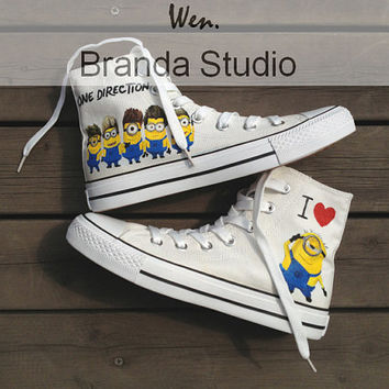 One Direction&Despicable MeStudio Hand Painted by Brandastudio