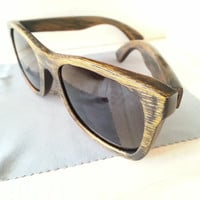 Wood Sunglasses - Eco-Friendly Aged Grain Bamboo Sunglasses | Hand Made from Recycled Wood