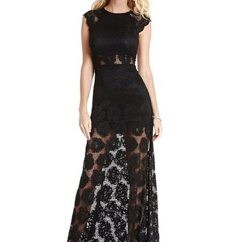 Maggie Lace Maxi Dress | GUESS.com