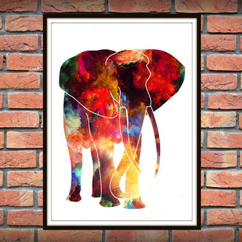 Elephant Wall Art, Safari Painting, Art For Kids, Nursery Art, Nursery Wall Art, Vatercolor Nursery Decor, Safari African Animal Print *11*