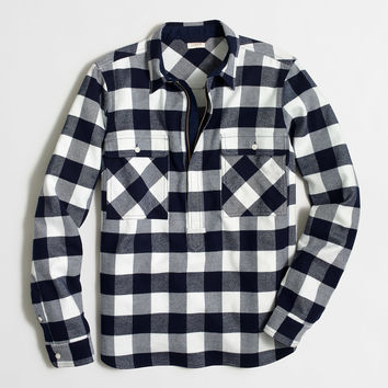 Factory buffalo check shirt-jacket