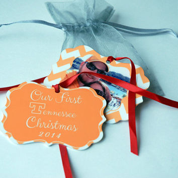 Personalized First Christmas Tree Ornaments, Married, Wedding, Engagement, First Tennessee Christmas