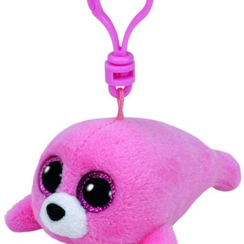 Pierre Pink Seal Ty Beanie Boos Clips Keychain