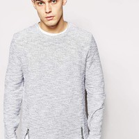River Island | River Island Cable Knit Sweater with Side Zips at ASOS