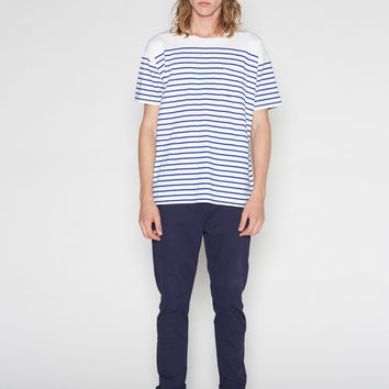 Oversized Tee Shirt in Breton Stripe
