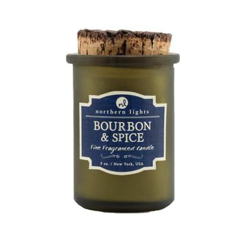 Northern Lights Candles: Spirits Jars-Bourbon & Spice