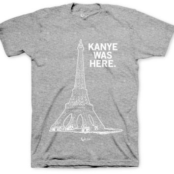 Jordan 4 Cement Kanye Was Here Heather Gray & White T Shirt