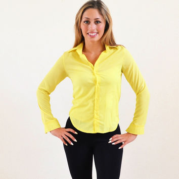 Yellow Full Sleeve Shirt