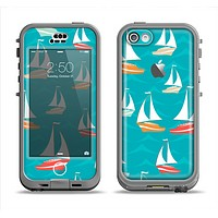The Vector Colored Sailboats Apple iPhone 5c LifeProof Nuud Case Skin Set