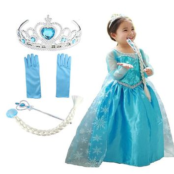 Girls Dresses for Girls Elsa dress Snow Queen Cosplay Princess Anna Elza Vestidos Party Dress Kids Clothing Halloween Costumes