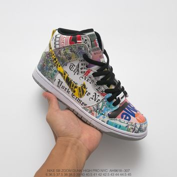 """[Free Shipping ]Nike Dunk """"What The NYC""""  AH9618-307  Basketball  Shoes"""