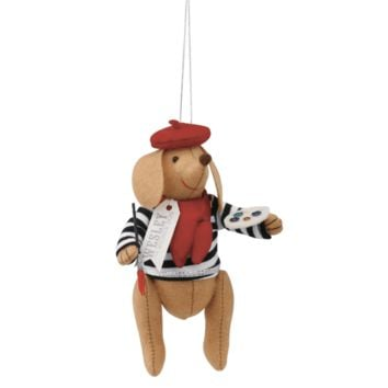 FanciFollies|Wesley the Parisian Wiener Dog Ornament