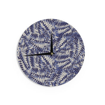 "Gukuuki ""Iggy Palms"" Navy Blue Wall Clock"
