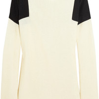 Jil Sander | Two-tone silk sweater | NET-A-PORTER.COM
