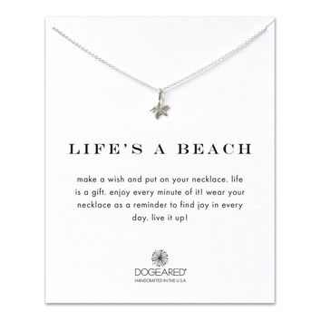 life's a beach starfish necklace, sterling silver - Dogeared