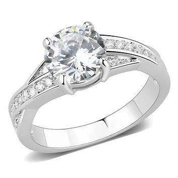 A Perfect 1.4CT Round Cut Russian Lab Diamond Engagement Ring