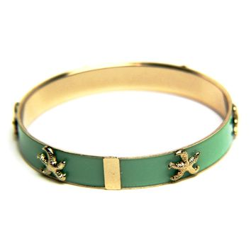 Star Fish Enamel Bangle Bracelet