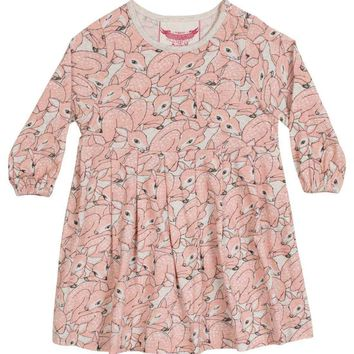 Paper Wings Baby Girl - Peach Fawn Dress
