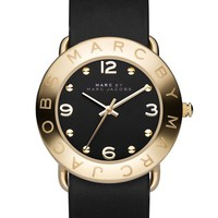 Women's MARC BY MARC JACOBS 'Amy' Leather Strap Watch