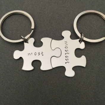 Most Mostest Keychains, personalized keychains, couples keychains gift , Anniversary Gift