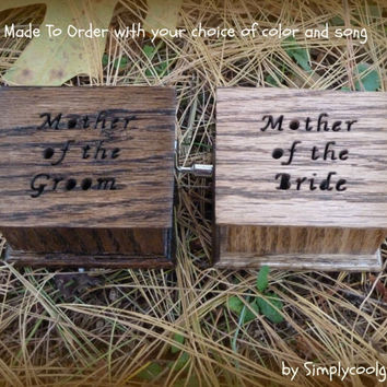 Wedding Music Box Personalized Gift Mother Of The Bride