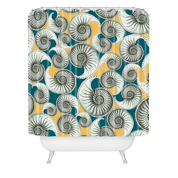 Belle13 Summertime Shells Shower Curtain