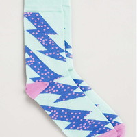 Mint and Purple Zig-Zag Socks - New This Week - New In