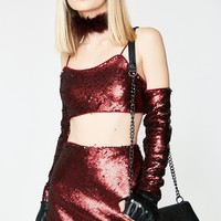 Wine Behavior Mini Skirt
