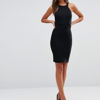 Y.A.S Tall Lua Racer Front Detail Bodycon Dress at asos.com