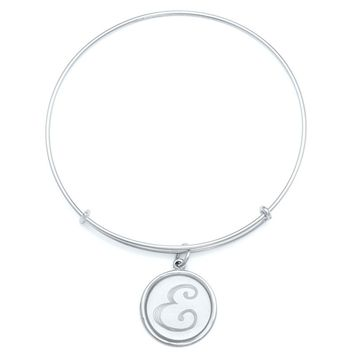 Alex and Ani Precious Initial E Charm Bangle - Argentium Silver