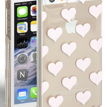Women's kate spade new york 'clear hearts' iPhone 5 & 5s case