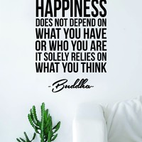 Buddha Happiness v2 Quote Wall Decal Sticker Vinyl Art Living Room Bedroom Decor Yoga Meditate Zen Inspirational