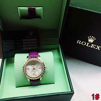 Rolex Trending Women Stylish Chic Diamond Quartz Watch Movement Wristwatch