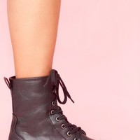 Prague Combat Boot in Shoes at Nasty Gal