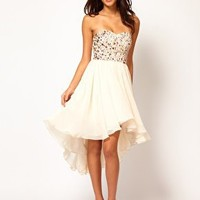 Opulence England Jewelled Bodice Hi Lo Dress at asos.com