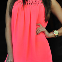 Glow For Me Tank: Neon Pink | Hope's