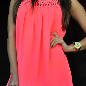 Glow For Me Tank: Neon Pink   Hope's