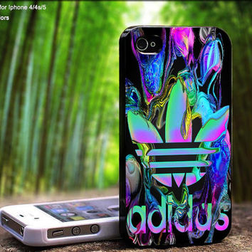 Adidas Water Color Reflection Design For iPhone 5 / 4 / 4S - Samsung Galaxy S3 / S4 ( Black / White case )
