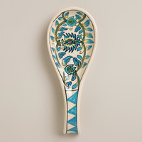 Floral Hand-Painted Ceramic Spoon Rest - World Market