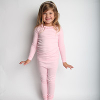 Ava Ruffled Two-Piece Pajama Set