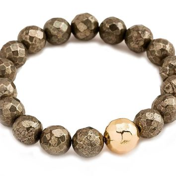 Gorjana Pyrite Strength Power Gemstone Statement Bracelet