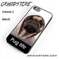 New Design Funny Hilarious Pug Life Parody Fans For Iphone 5 Iphone 5S Case UY