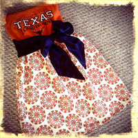 Texas Longhorns HORNS College Gameday Tube by hautethreadsboutique
