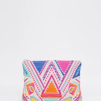 Glamorous Bright Tapestry Clutch Bag at asos.com