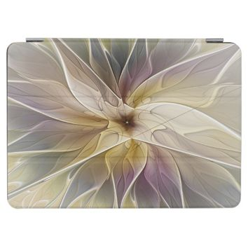 Floral Fantasy Gold Aubergine Abstract Fractal Art iPad Pro Cover